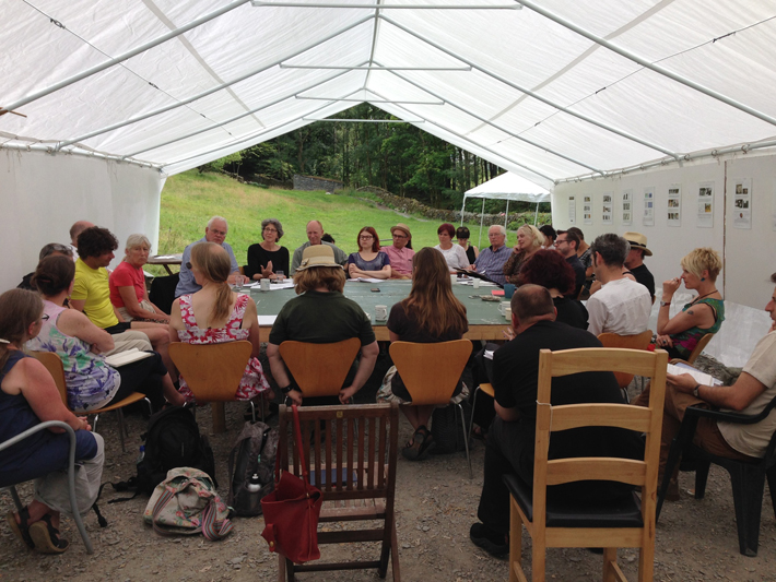 The New Rural Arts Seminar, 25 July 2014, at the Merz Barn. Photo courtesy of Esther Anatolitis.