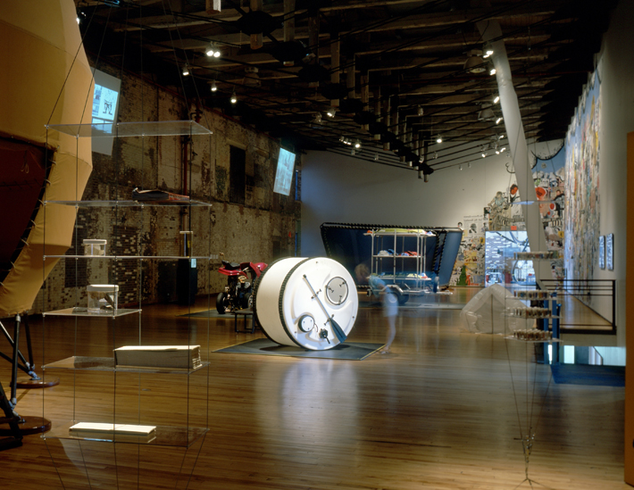 Illustration 6. The Interventionists: Art in the Social Sphere, interior installation view at MASS MoCA, Spring 2004.