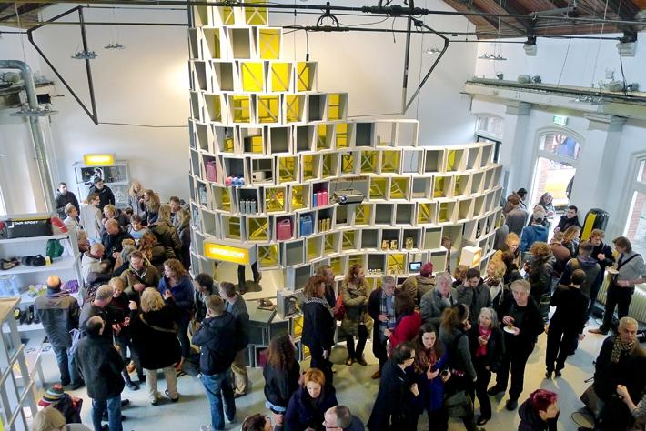 Illustration 6. Opening of Cooperative Value Store (2013). Design: Exyst, Peter Zuiderwijk with Wijkschool Afrikaanderwijk. Photograph by Peter Zuiderwijk.