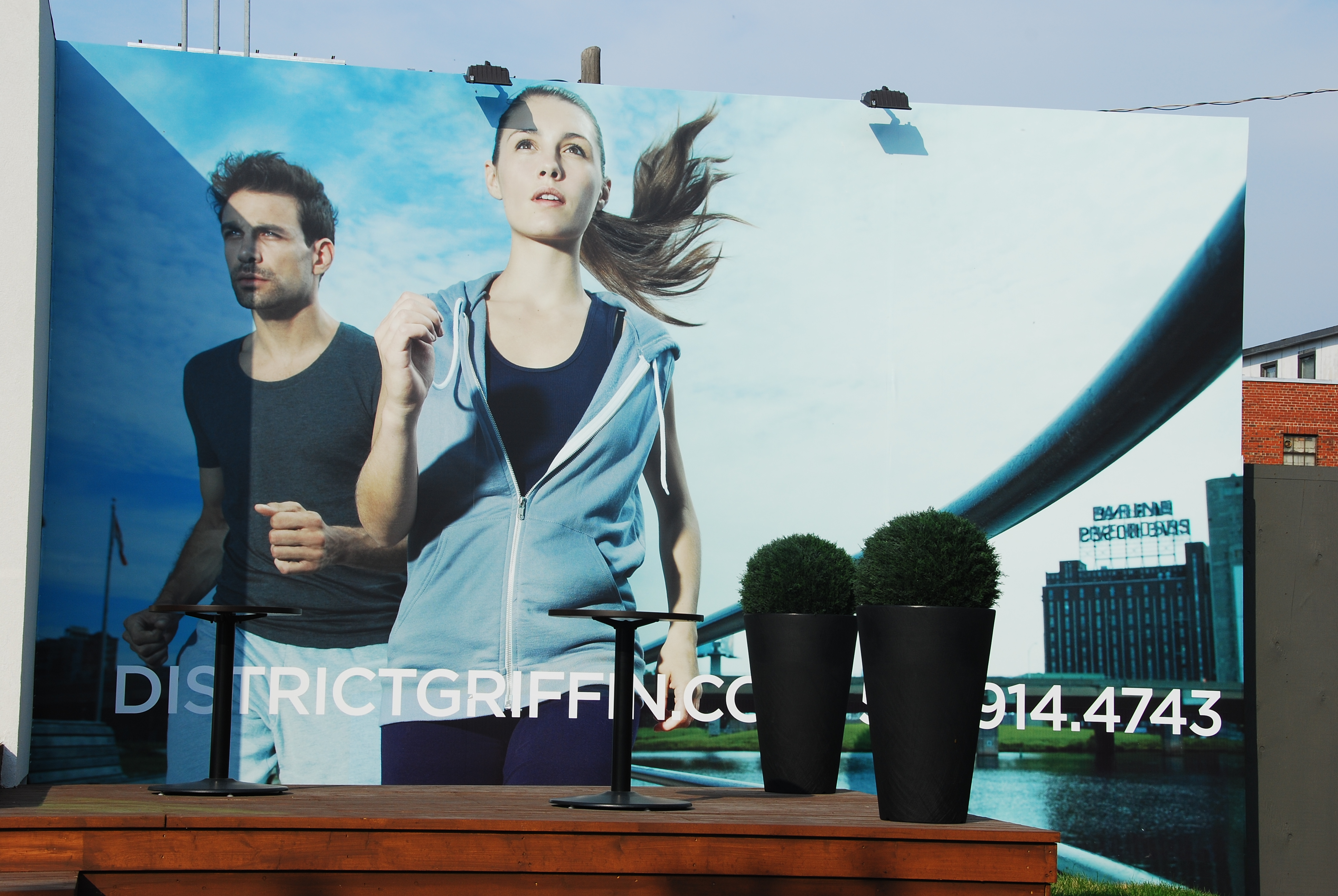 "[Image 8 - Billboard advertising ""District Griffin"" condominiums, 2011. Photo: S. Janssen]"