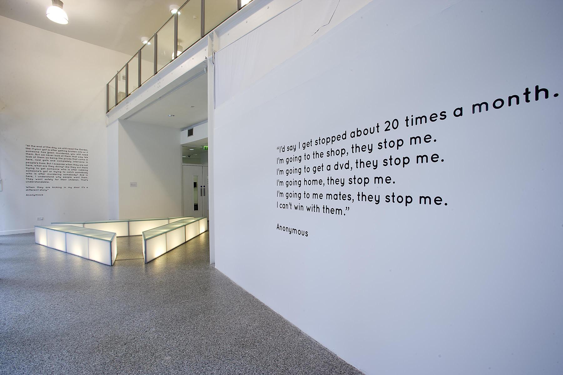 [ Image 2. Policing Dialogues. The LAB Gallery Dublin, 2010. © Michael Durand]