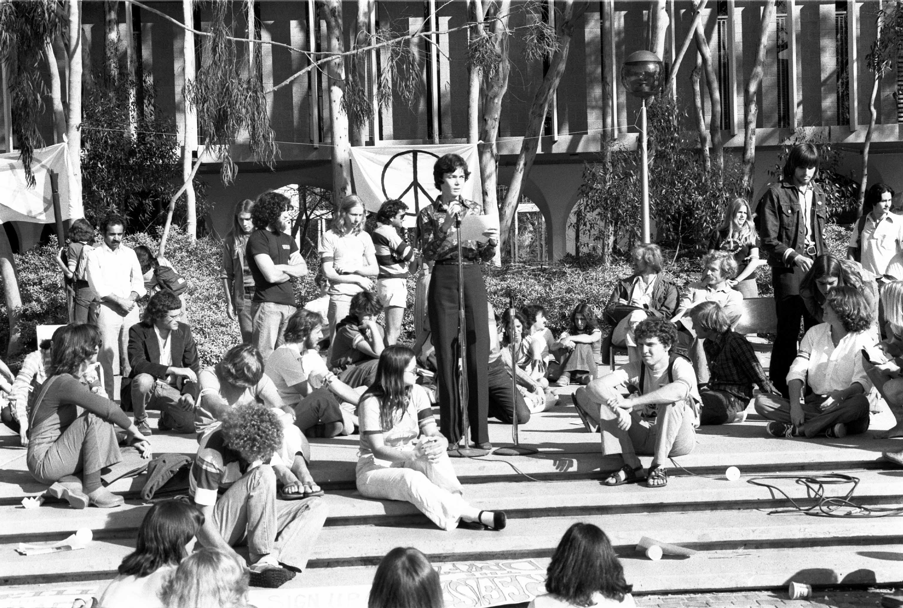 [Image 1. Anti war protests at the University of California, San Diego, 1970. Credits: Fred Lonidier]