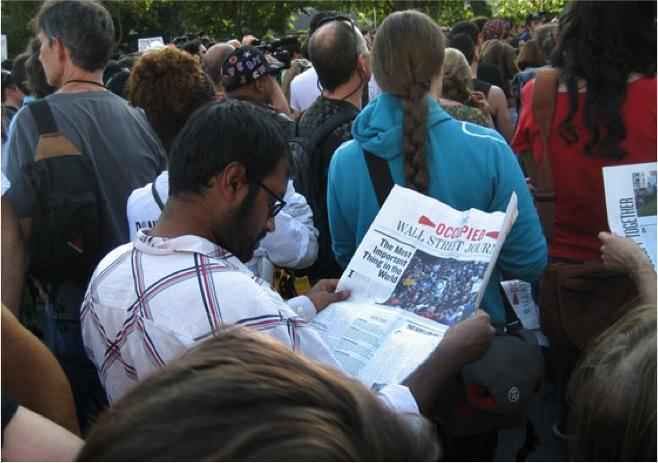 [Image 4. Protestor in Occupy New York, 2011]