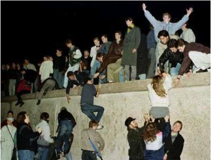 [Image 5: The Fall of the Berlin Wall, November, 1989]