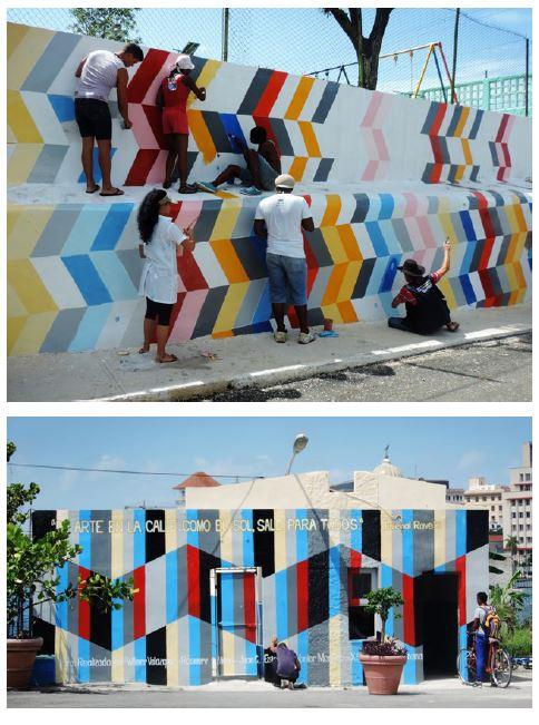 [Image 5. Juvenal Ravelo. Mural comunitario. Community mural. Casablanca]