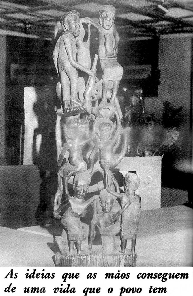 [Image 5. Unknown Mozambican Makonde sculptor, blackwood sculpture of the ujamaa type, ca. 1975, Museu Nacional de Arte, Maputo. Photographer unknown, from: Tempo no. 429 (December 24, 1978): 64]