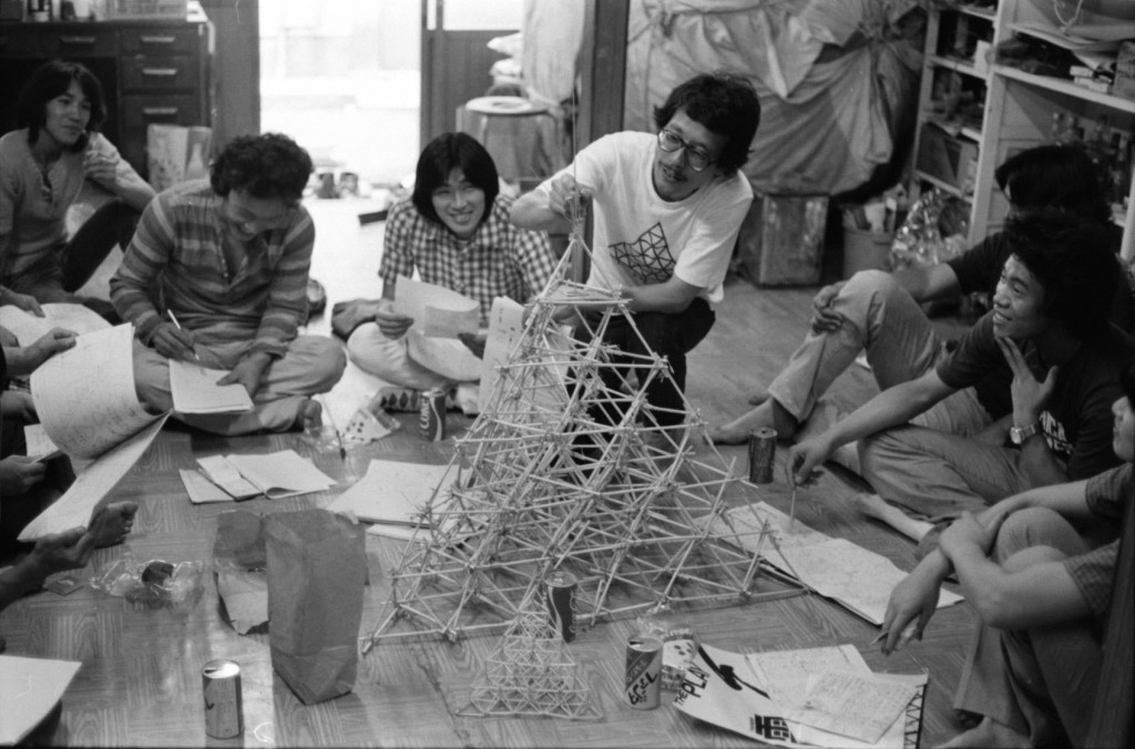 Figure 4 The Play members working on models for Thunder, c. 1977 © The Play