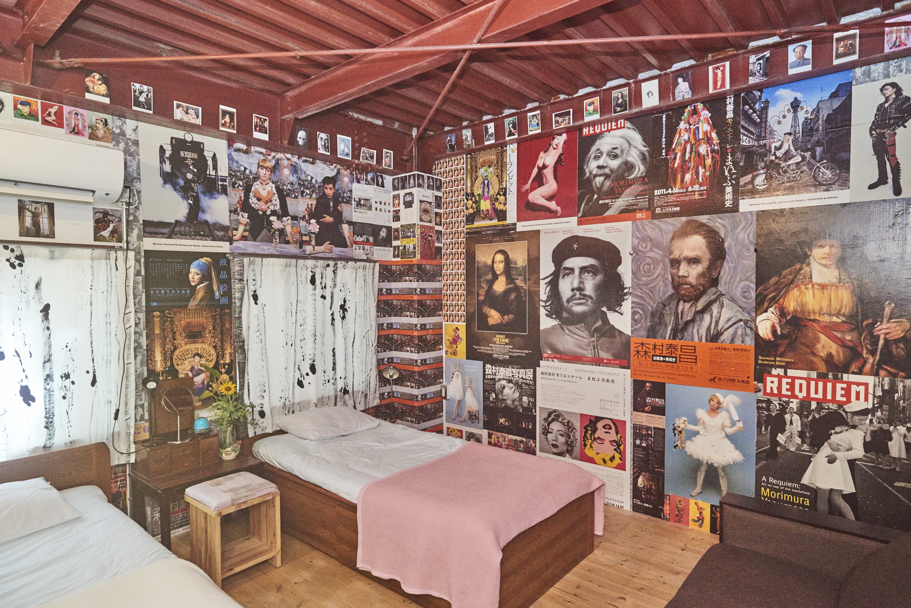 [Figure 6: A room in the Guesthouse that was a collaborative work by Morimura Yasumasa and local workers]