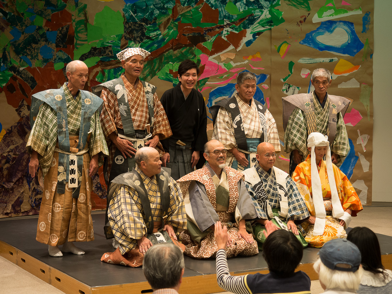 [Figure 10: At the end of the kyōgen performance at the 2014 Yokohama Triennale]