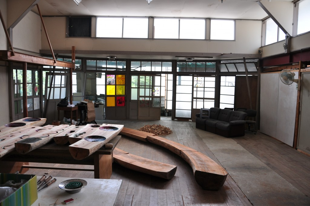 Image 5 - The artist's studio housed in a renovated nursery school.